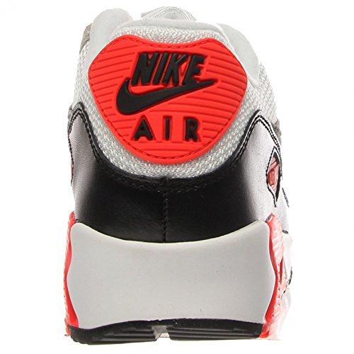 Nike Air Max 90 Prem Mesh (GS) Zapatillas de running, Niños WHT/GREY-GREY-BLK-INFRARED