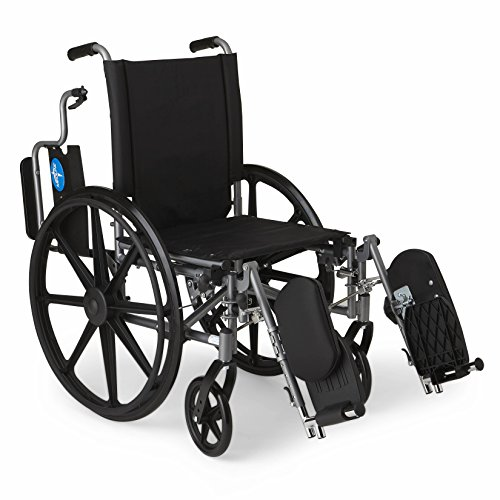 Medline-Lightweight-and-User-Friendly-Wheelchair-with-Flip-Back-Desk-Length-Arms-and-Elevating-Leg-Rests-for-Extra-Comfort-Gray-18-Seat