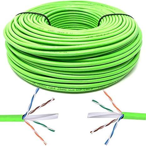 Mr Tronic 305 Metros Cable de Instalaci/ón Red Ethernet Bobina 305m UTP CAT6 Color Gris CCA AWG24