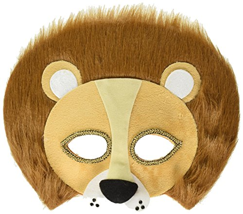 Furry Lion Half Mask Costume Accessory -