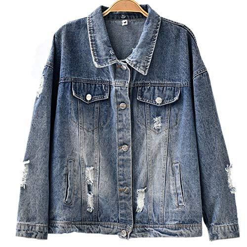 8f4699f78e Urban Zakapa Women Denim Jacket Oversize Boyfriend Long Sleeve Loose Jean  Coat