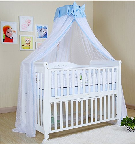 baby mosquito net baby toddler bed crib dome canopy netting butterfly blue new ebay
