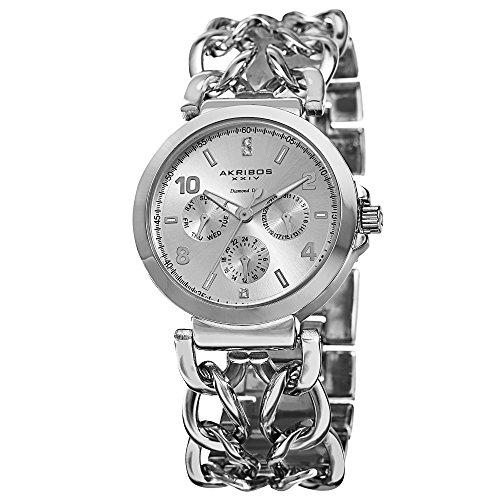 Akribos XXIV Silver-tone Alloy Ladies Watch AK746SS