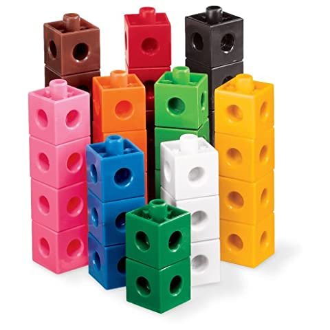 ETA hand2mind Interlocking Pop Cubes, Set of 100 (Volume Cubes)