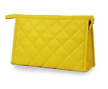 Bolsa de cosméticos, bolsa de cosméticos de viaje multifunción para mujer, estuche de maquillaje, amarillo