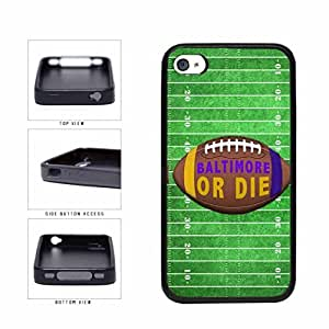 Baltimore or Die Football Field TPU RUBBER SILICONE Phone Case Back Cover Apple iPhone 4 4s