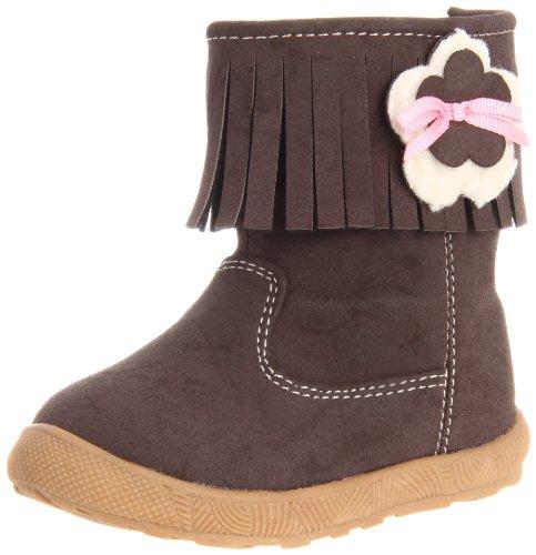 Natural Steps Fringe Boot (Infant/Toddler) Brown Suede/Flower 8 M US Toddler