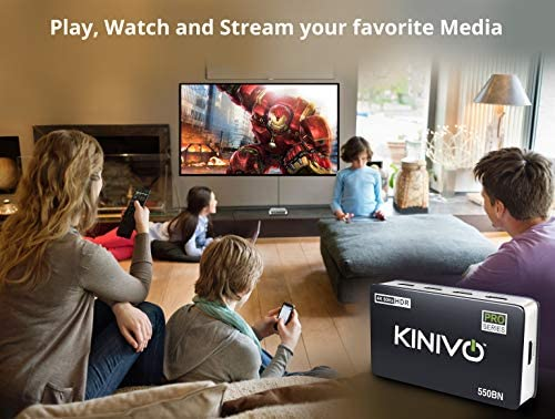 Kinivo 350BN 4K HDMI-Switch mit drahtloser IR-Fernbedienung 3-Port, 4K 60Hz HDR, HDMI 2.0, High-Speed-18-Gbit//s, Auto-Switching