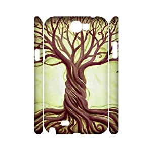 HXYHTY Tree of Life Customized Hard 3D Case For Samsung Galaxy Note 2 N7100