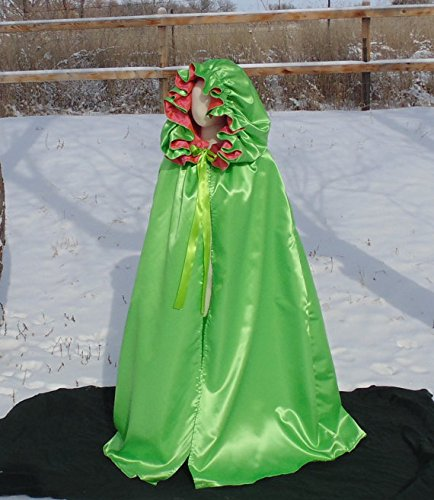 Adult full length Cloak in Lime by Fru Fru and Feathers Costumes & Gifts