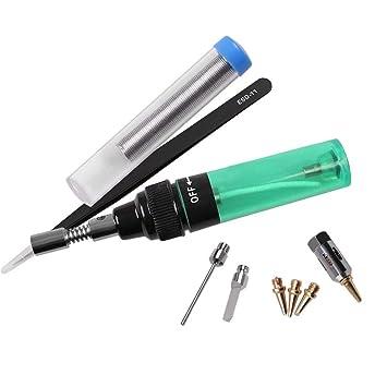 Soldadura eléctrica multifuncional del soldador del gas de la temperatura ajustable (verde) - Matefielduk: Amazon.es: Bricolaje y herramientas