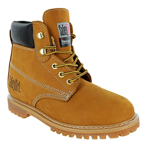 Safety Girl II Insulated Work Boot - Tan Soft Toe 7.5M (Boot Toe Tan Safety)