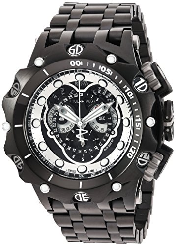 Invicta Men's 'Venom' Swiss Quartz Stainless Steel Watch, Color:Black (Model: 20421)