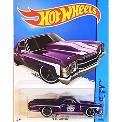 Hot Wheels, 2015 HW City, '71 El Camino [Purple] Die-Cast Vehicle #18/250,: Toys & Games