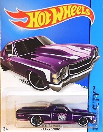 Hot Wheels, 2015 HW City, '71 El Camino [Purple] Die-Cast Vehicle #18/250,