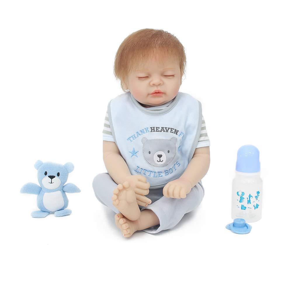 SKLLA Realistische Reborn Baby, lebensechte Puppe 20 Zoll Zubehör Beste Geburtstagsgeschenk für Alter 3+ Wachstum Partner