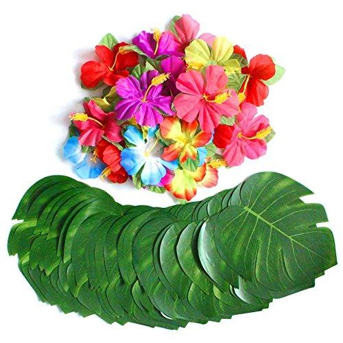 (E-dance 54 Pcs Tropical Party Decoration Supplies 8
