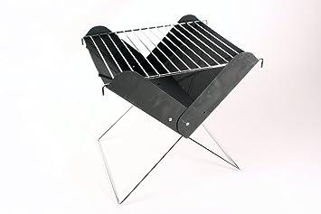 BBQ Parrilla plegable plegable Mini Barbacoa plegable plegable camping picnic barbacoa de carbón: Amazon.es: Jardín