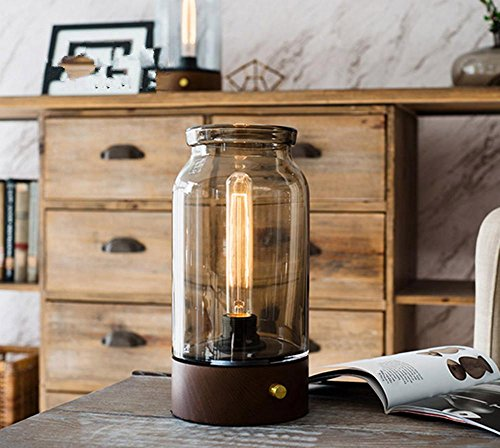 Driftwood Pull (DGS Pull-Button Push-Button Led Countryside Handmade Glass Table Lamp Home Decoration Decoration Table Lamp (15 15 33Cm))