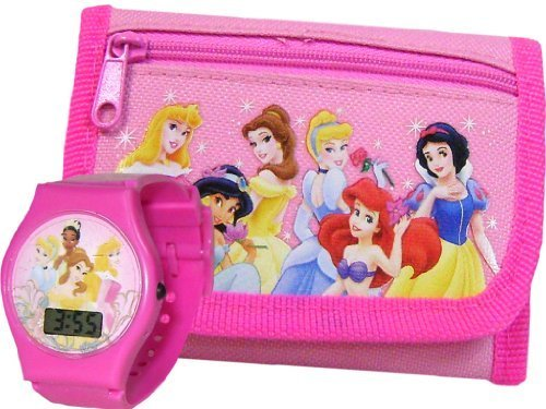 New Disney Princess Pink Wallet and LCD Watch for ()