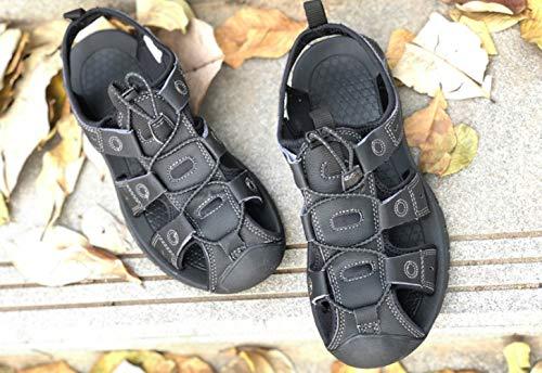Grigio casual uomo WFL in da da cuoio fondo pantofole uomo sandali antiscivolo Estate spiaggia morbido scarpe da cool TAwqAnUx