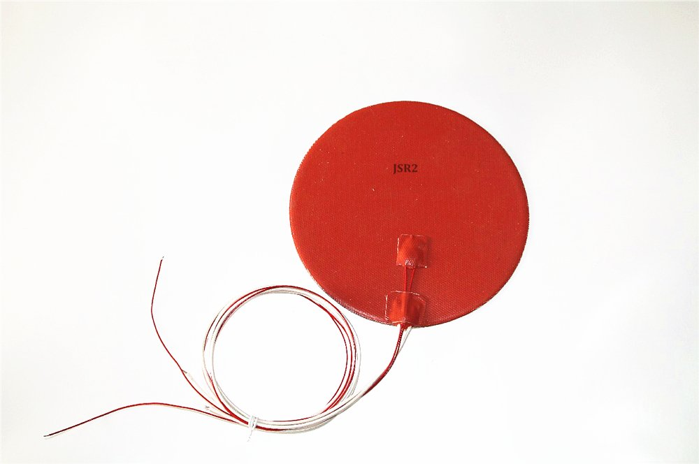 """9/"""" 230mm Diameter 12V 300W with 3M with Thermistor CE UL JSR2 Round Heater Pad"""