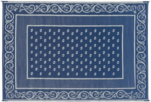 Faulkner Vineyard 6 by 9-Feet Blue Multi-Purpose Mat