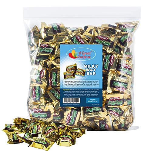 Milky Way Candy Bars  Milkyway Chocolate Candy Bar Mini  Gold Candy  2 LB Bulk Candy