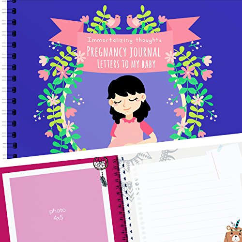 Pregnancy journals planners for first time moms, prenatal present pregnant keepsake journal, Beautiful & unique design + stickers (Morning Baby Sticker)
