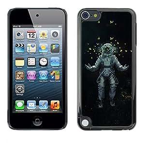Paccase / SLIM PC / Aliminium Casa Carcasa Funda Case Cover para - Popular Astrounaut Cosmonaut Space Art Butterflies - Apple iPod Touch 5