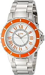 a_line Women's AL-80009-02OR Marina White Dial Stainless Steel Watch