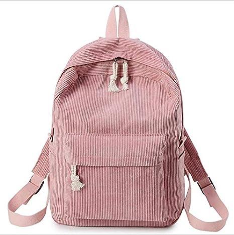 OneMoreT Preppy Style - Mochila de tela suave para mujer, diseño de pana, rosa: Amazon.es: Instrumentos musicales