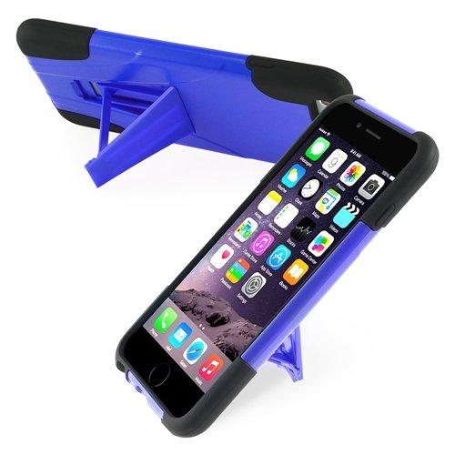 """ChannelExpert Hybrid Armor Hülle case Tasche Bumper Etui Cover Schutzhülle Schutzcover mit Stand für Apple iPhone 6 Plus 5.5"""" schwarz/blau"""