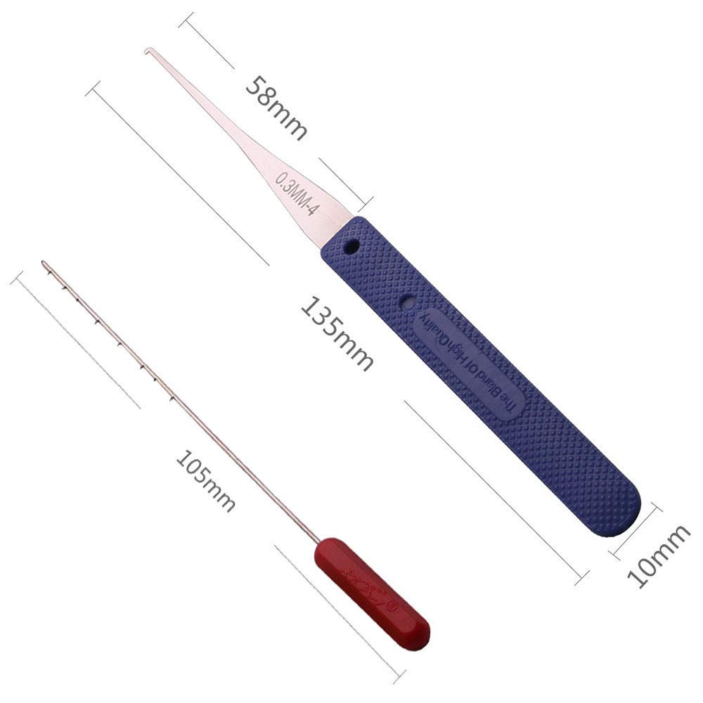 Loboo Idea pistola de ganz/úas y extractor de llaves rotas para cerrajeros profesionales y principiantes Kit de herramientas para abrir cerraduras de puerta