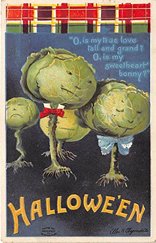 Artist Ellen Clapsaddle, International Art Publ. Co Halloween Postcard Old Vintage Post Card -