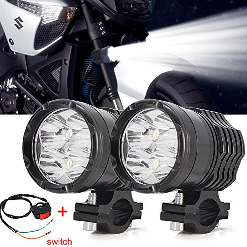 Motorcycle Driving Lights,Ourbest Spotlights Fog Auxiliary Lights Cree 12V 24V 40W Front Work Universal Headlight For E-Bike Truck Jeep Car Boat With Switch (Light Motorcycle)