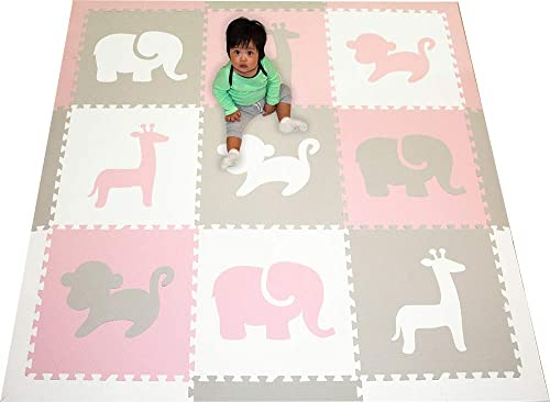 SoftTiles Children's Playmat- Safari Animals