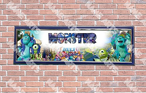 Personalized / Customized Monster University Inc Movie Name Poster with Frame - Home Wall Decor Birthday Party Door Banner