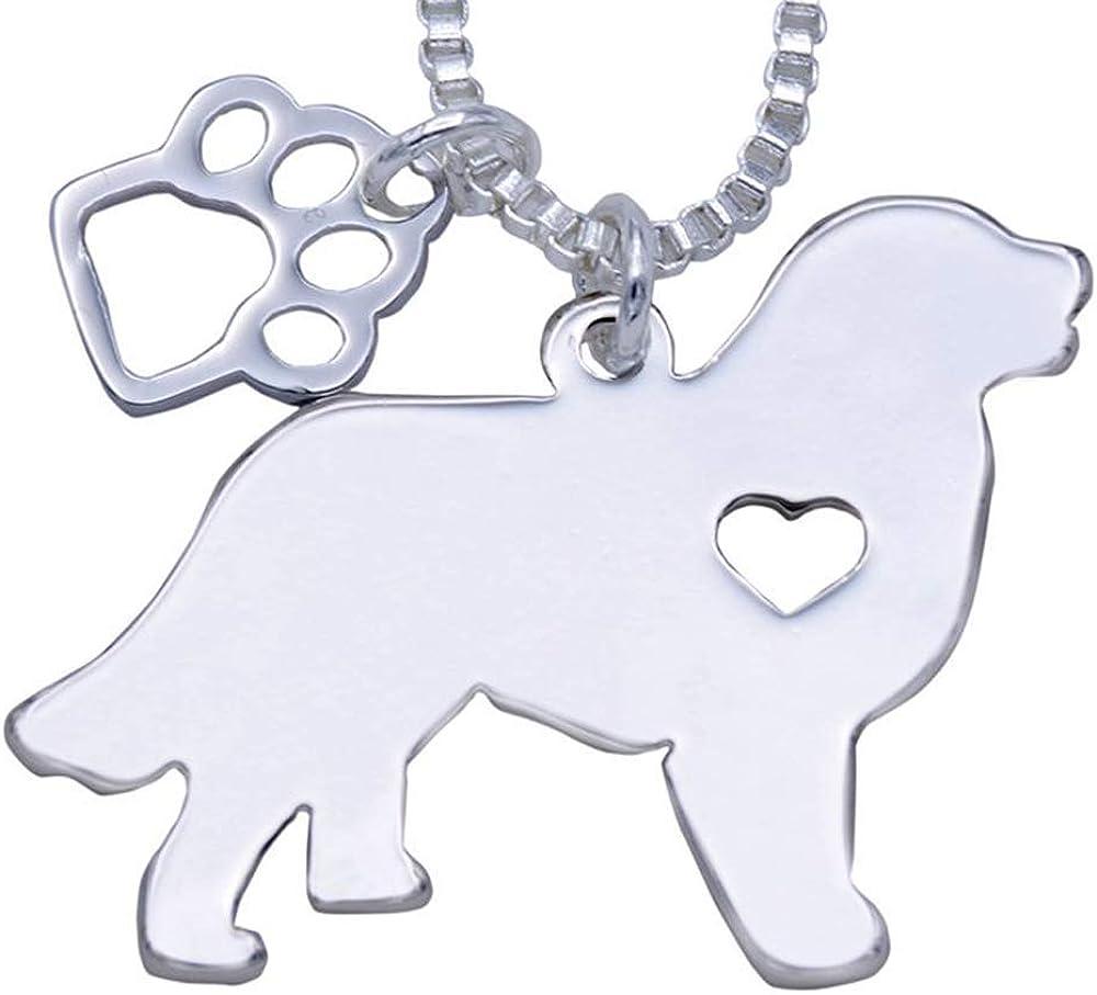 7COLOR WINGS Cute Pet Dog Pendant Necklace Stainless Steel Yorkie Labrador Pitbull Husky Alaskan Akita Boxer Corgi Dachshund German Shepherd Pendant Necklace Gift