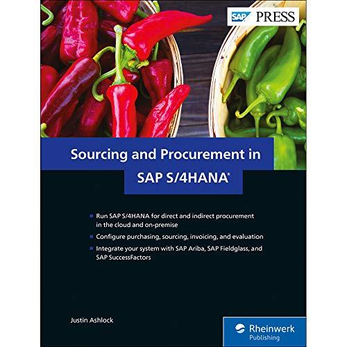 Sourcing and Procurement in SAP S/4HANA (SAP PRESS)