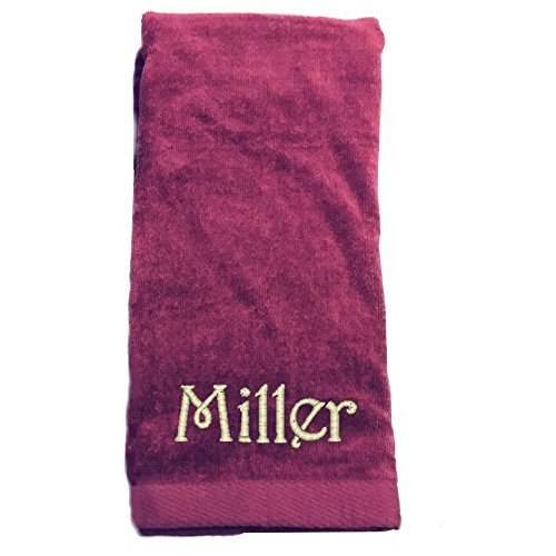 "Monogrammed Personalized Name Hand Towels, Size 16"" X 26"", C"