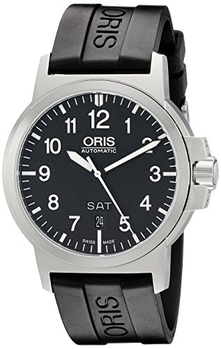 Oris Men's 73576414164RS BC3 Rubber Strap Black Dial Watch