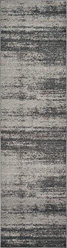 Unique Loom Del Mar Collection Contemporary Transitional Dark Gray Runner Rug (2' 7 x 10' 0) 2'3'x10' Runner Area Rug