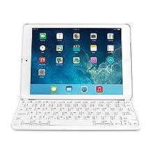 Kensington KeyFolio Thin X2 Bluetooth Keyboard Case for iPad Air, White (K97248US)