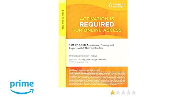 SAM 365 2016 Assessments Trainings And Projects With 2 MindTap Reader Printed Access Card 1 Term 6 Months 9781337113960 Amazon Books