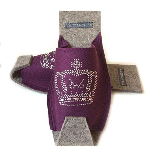 Melanzane Unisex Cervo Strass 38 Dimensione Dimensioni Con Viola Lana Corona 42 Pantoffeldiva Progettista Merino Damenpantoffel Unisex UvUr0qgwO