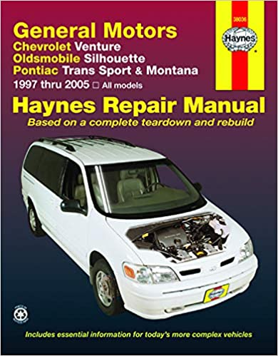 Chevrolet Venture, Oldsmobile Silhouette, Pontiac Trans Sport & Montana (97-05)  Haynes Repair Manual (Haynes Repair Manuals): Haynes: 9781563926365:  Amazon.com: BooksAmazon.com