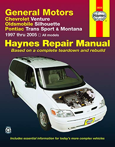 Chevrolet Venture, Oldsmobile Silhouette, Pontiac Trans Sport & Montana (97-05) Haynes Repair Manual (Haynes Repair Manuals)