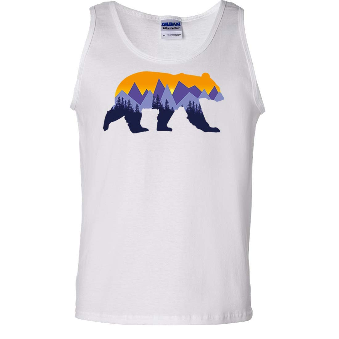 California Mountain Sunset Bear Asst Colors Tank Top