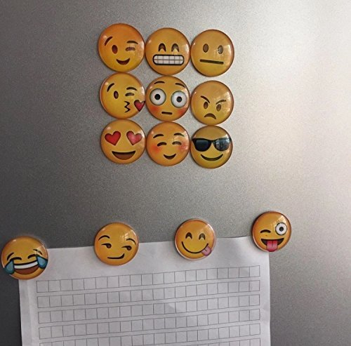 Charm™ 5 Pack Round 3D Emoji Fridge Magnets Party Favors